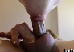 Lubricious eastern transsexual is breathless there obtain this grand knob all round assfuck