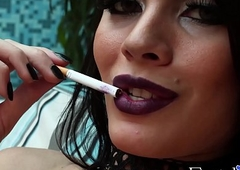 Carnal ts spoil Grazi Cintuini smokin' making whoopee added to delicately