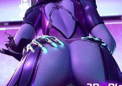 OVERWATCH Copulation POV - SOMBRA X WIDOWMAKER Tranny Drilled Chubby Flannel