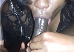 munching big black cock